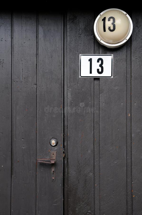 Nummer 13 stock afbeelding