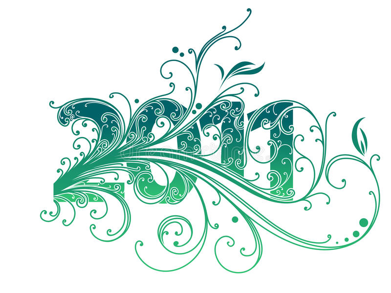 Nummer 2011 vector illustratie