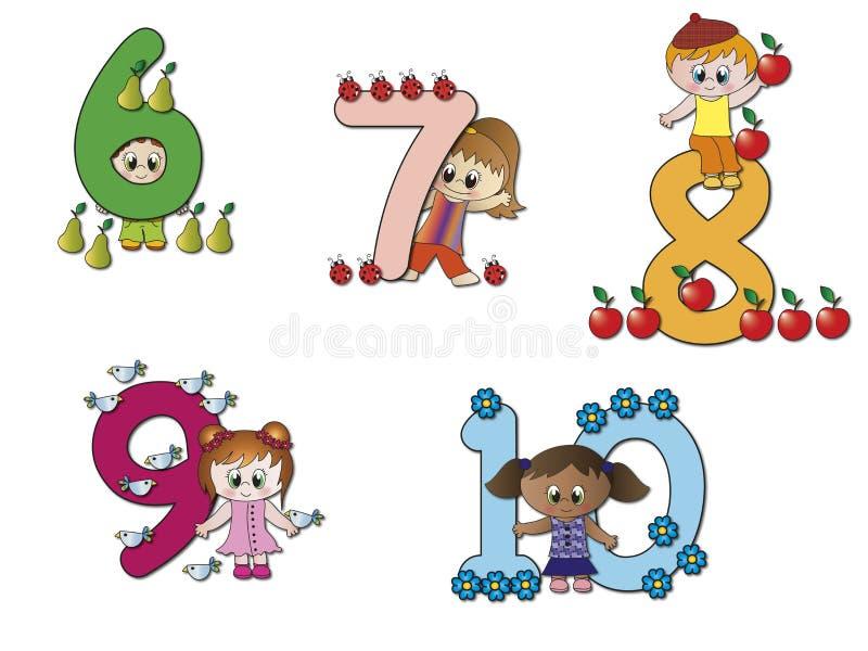 Nummer royaltyfri illustrationer
