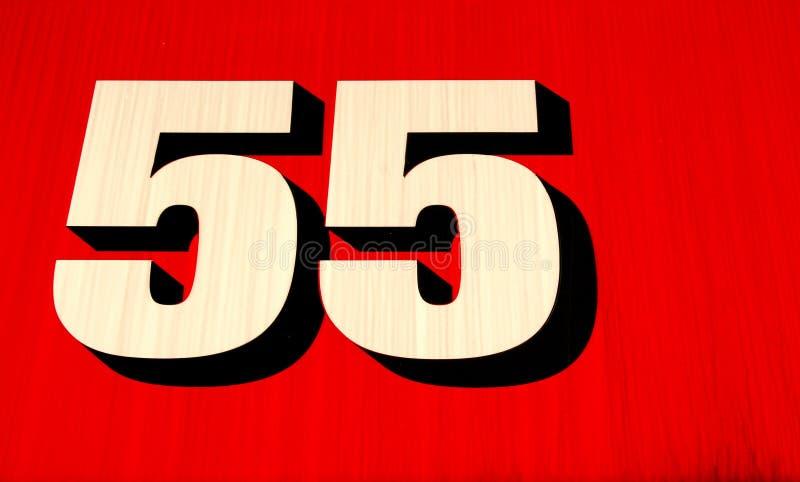 Nummer 55 Royalty-vrije Stock Foto