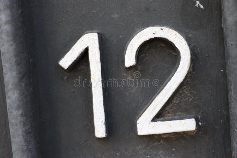 Nummer 12 royalty-vrije stock afbeeldingen