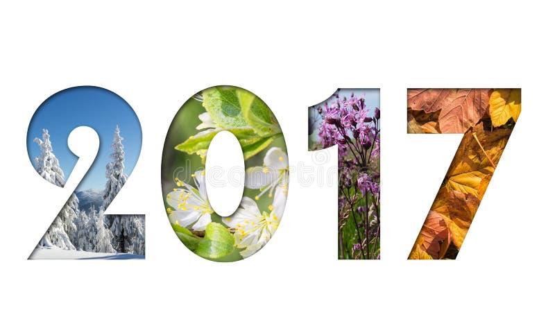 Nummer 2017 stock illustrationer
