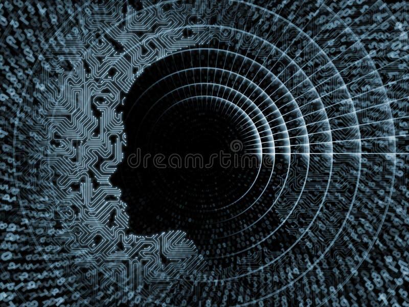 Nummer av intelligens vektor illustrationer