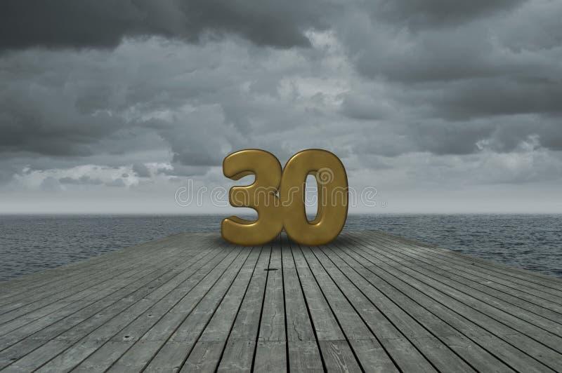 Nummer dertig royalty-vrije stock fotografie