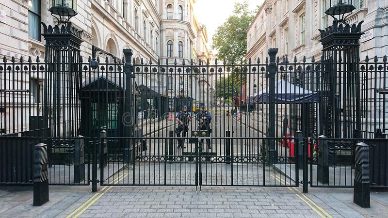 Nummer 10 Downing Street london arkivfoton