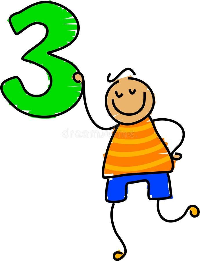 Nummer drie vector illustratie