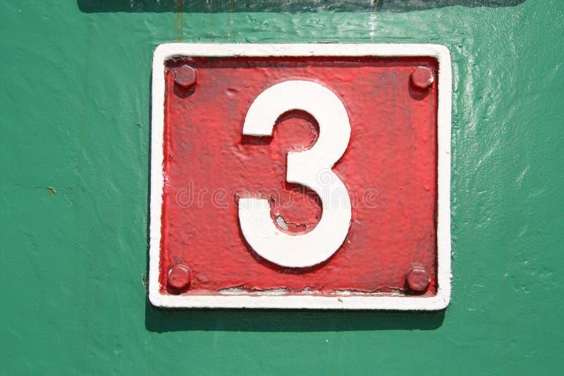 Nummer drie stock fotografie