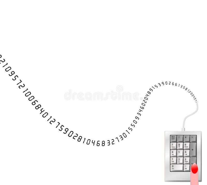nummer för kantdatatangenter royaltyfri illustrationer