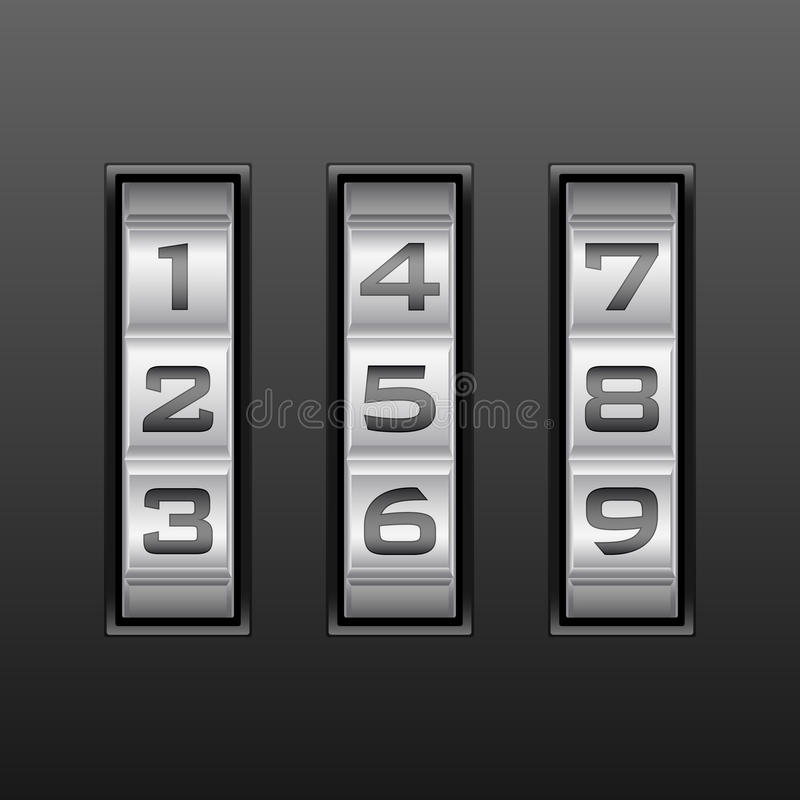 Download Nummer för kombinationslås vektor illustrationer. Illustration av skydd - 19792138