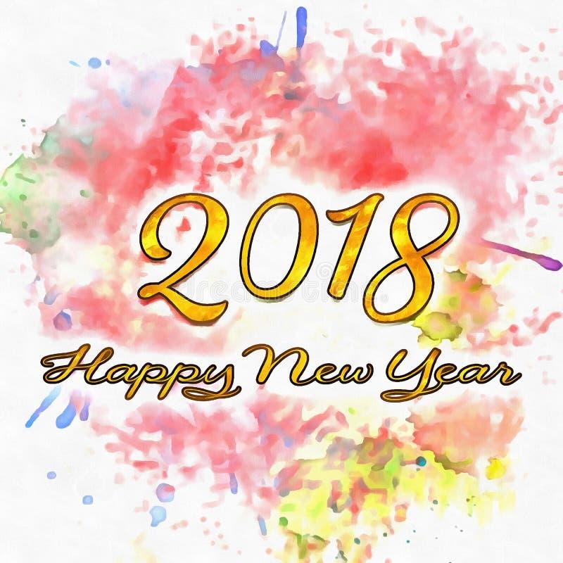 Nummer för lyckligt nytt år 2018 av år vektor illustrationer