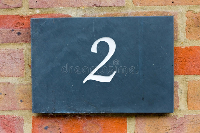 Nummer för två gata arkivfoton