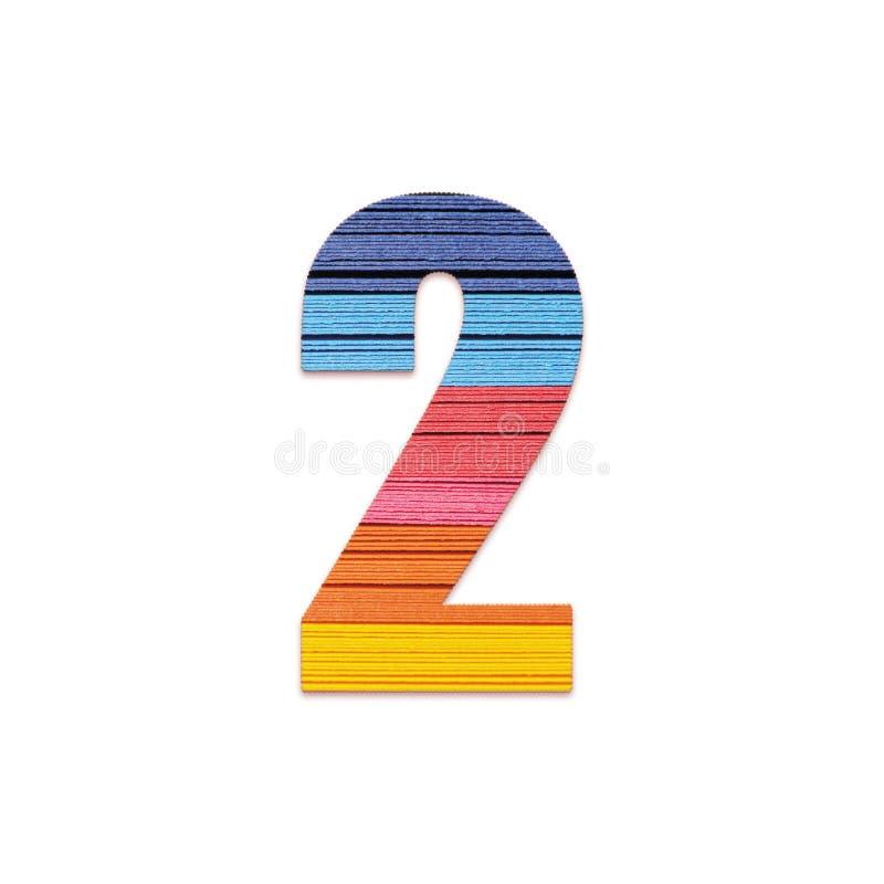 Nummer 2 Het document van de regenboogkleur royalty-vrije illustratie