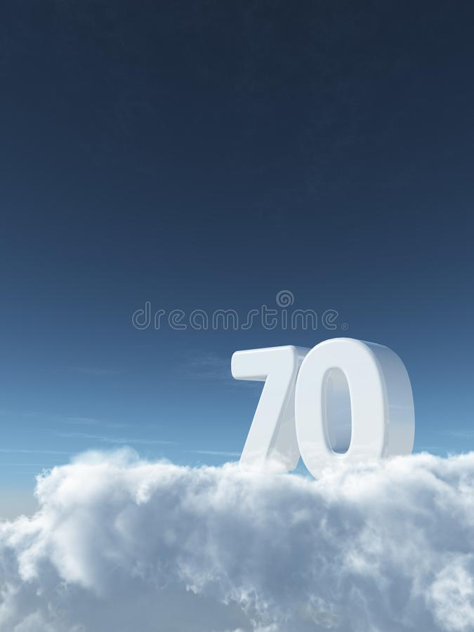Nummer i himlen vektor illustrationer