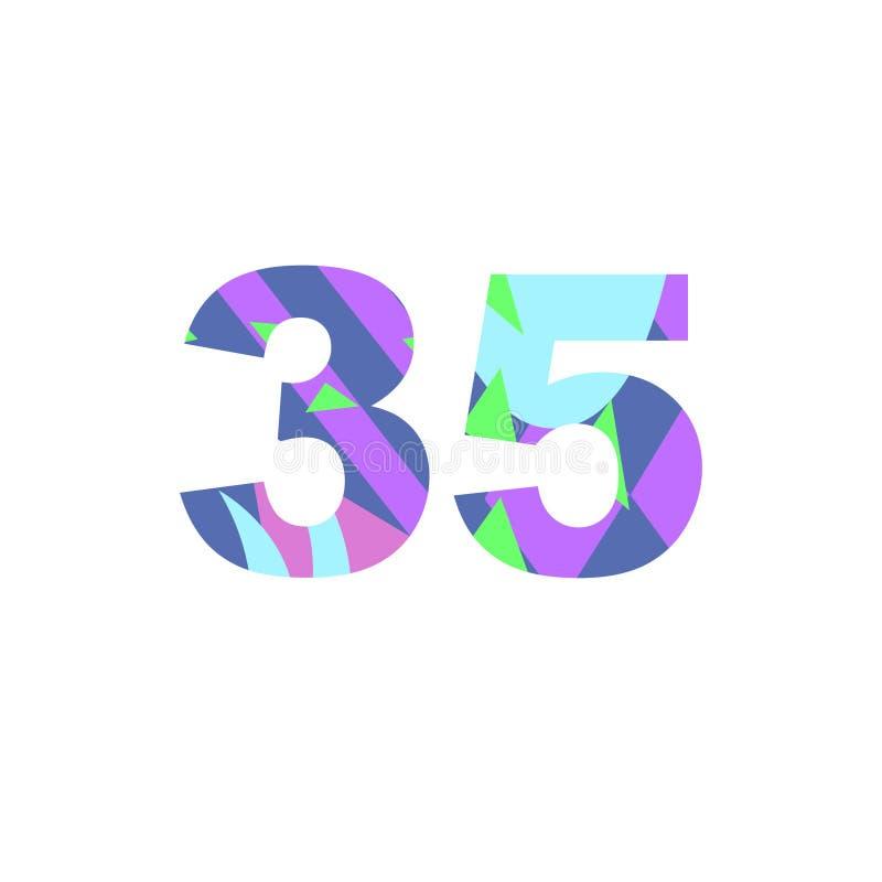 Nummer med den abstrakta påfyllningen vektor illustrationer