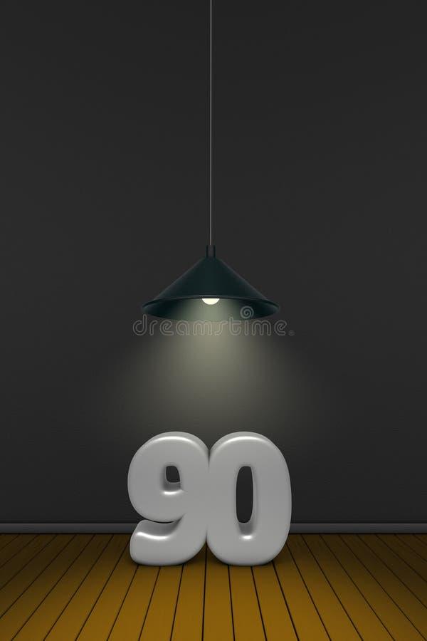 Nummer negentig vector illustratie