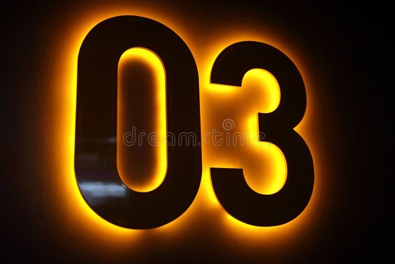 Nummer noll och tre arkivfoton