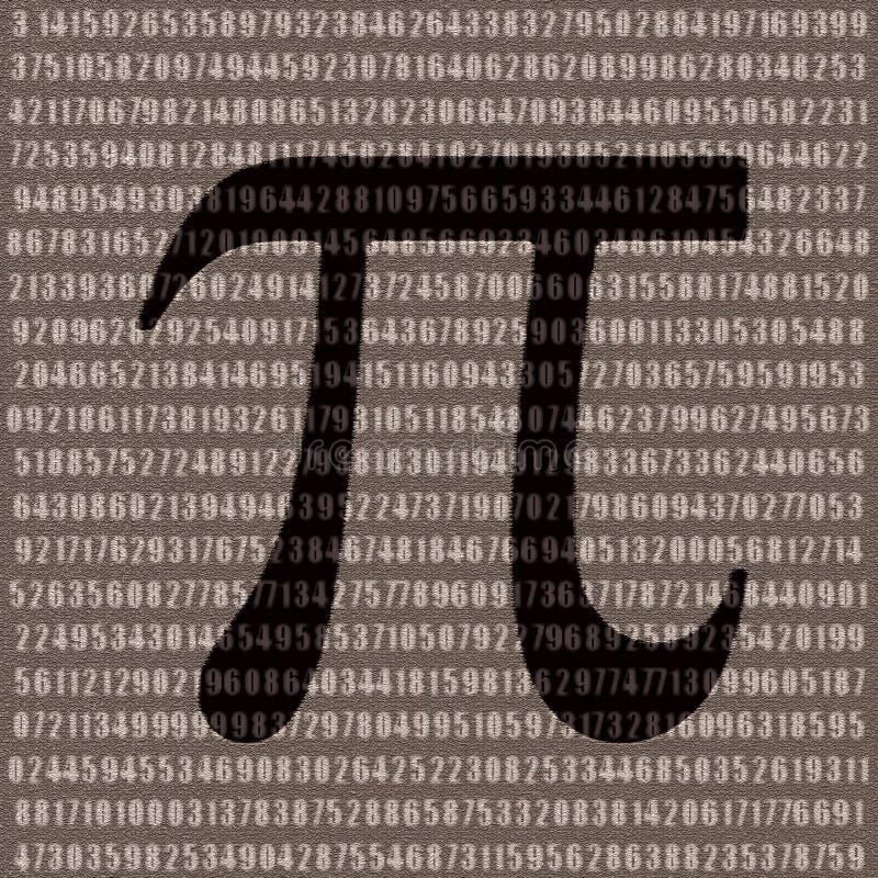 nummer pi vektor illustrationer