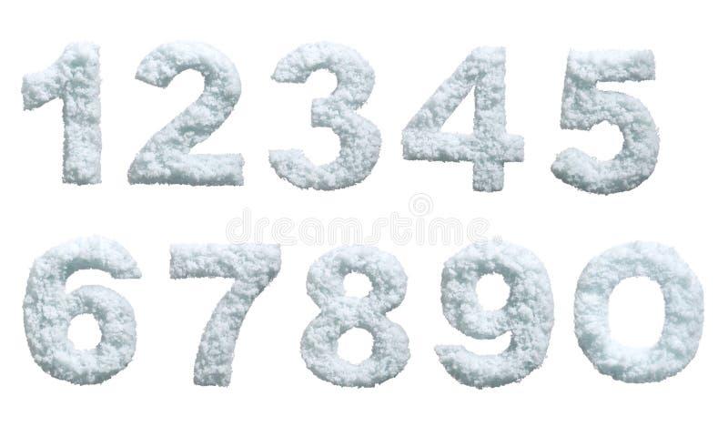 nummer snow utformat fotografering för bildbyråer