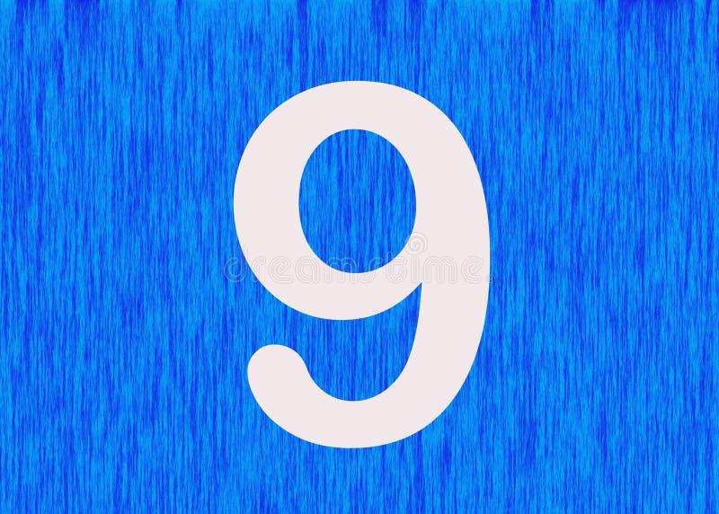 Nummer 9 som gudomligt symbol stock illustrationer