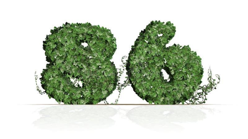 Nummer 86 som skapas av gröna murgrönasidor royaltyfri illustrationer
