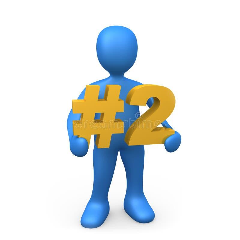 Nummer Twee vector illustratie