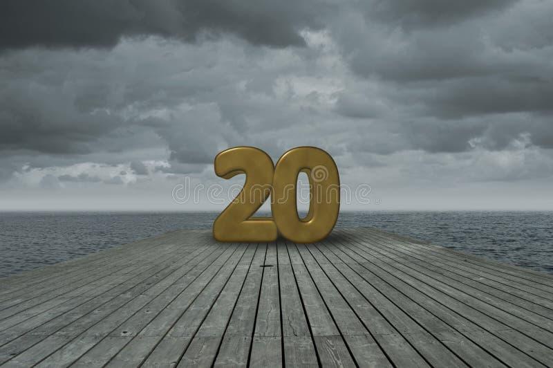 Nummer twintig royalty-vrije stock fotografie