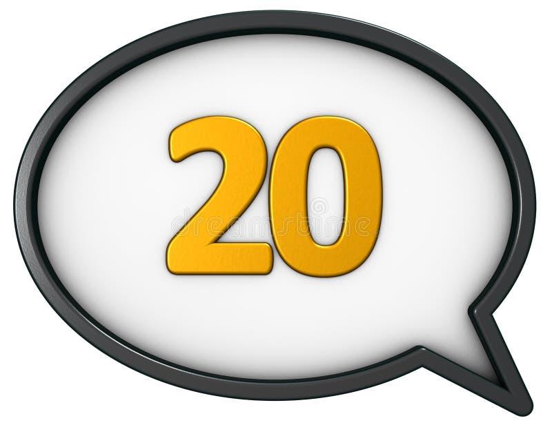 Download Nummer twintig stock illustratie. Illustratie bestaande uit dialoog - 107704982