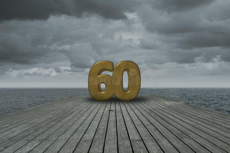 Nummer zestig royalty-vrije stock fotografie