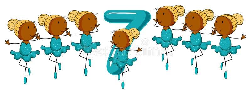 Nummer Zeven stock illustratie