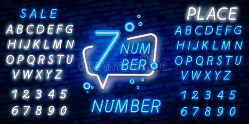 Nummer zeven het tekenvector van het symboolneon Zevende, Nummer zeven het pictogram van het malplaatjeneon, lichte banner, neonu stock foto