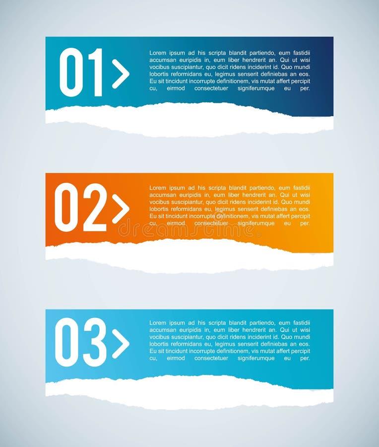 Nummerdesign stock illustrationer