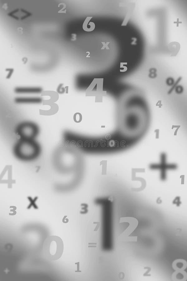 Nummeriert Hintergrund stock abbildung