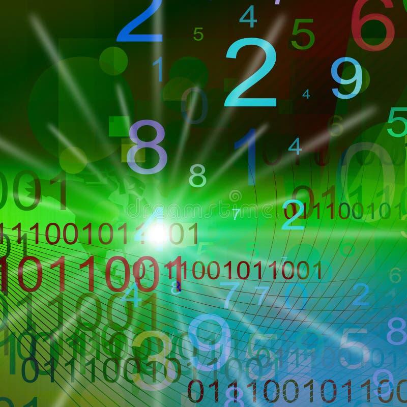 Nummeriert Hintergrund lizenzfreie abbildung