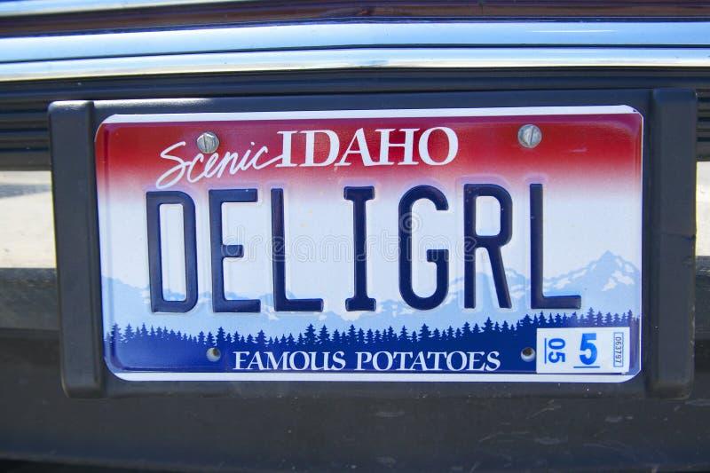 Nummerplaat in Idaho stock foto's