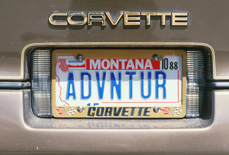 Nummerplaat in Montana royalty-vrije stock foto