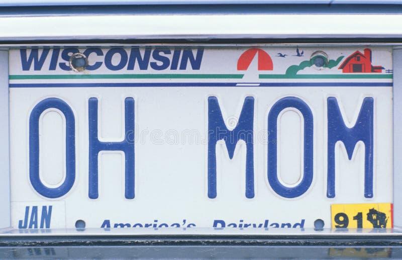Nummerplaat in Wisconsin royalty-vrije stock foto's
