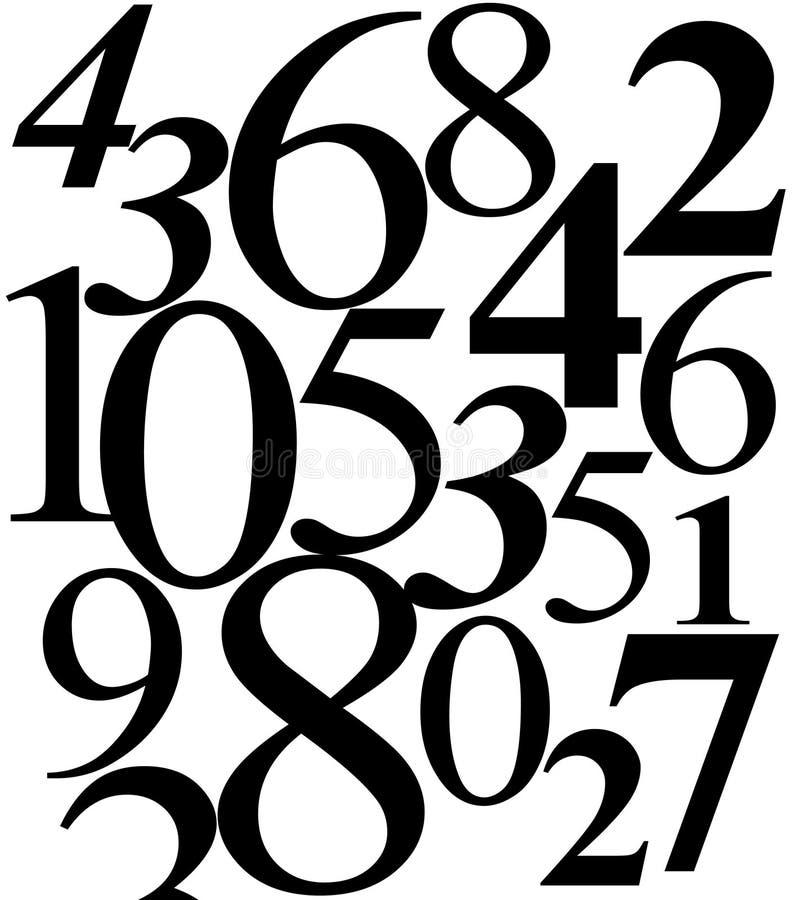 nummerpussel vektor illustrationer
