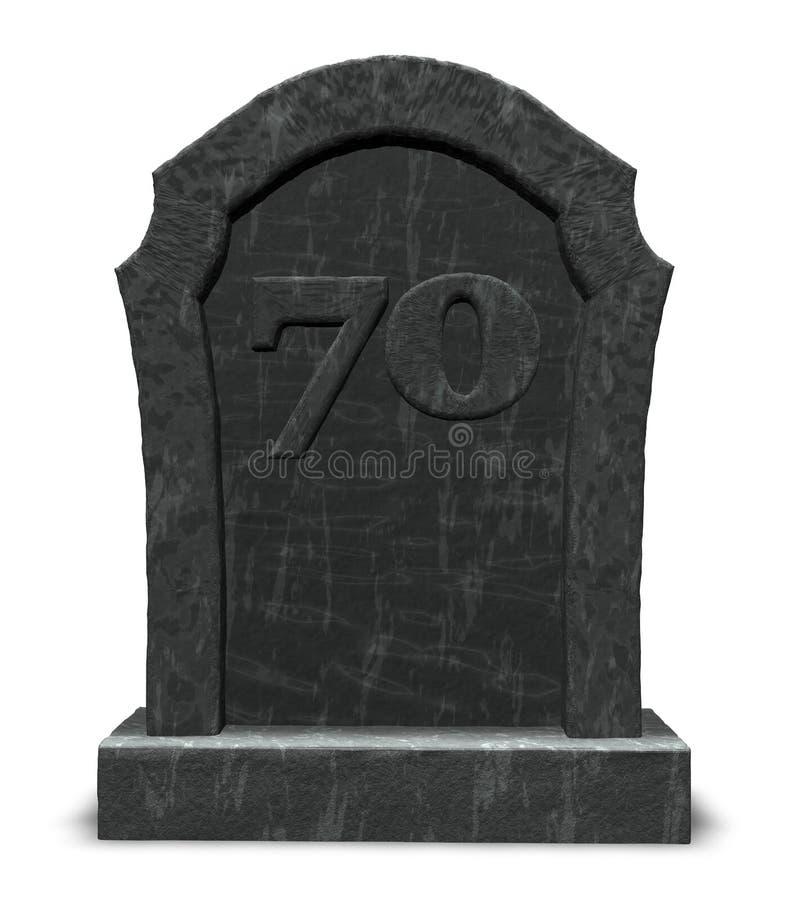 Nummersjuttio på gravestonen vektor illustrationer