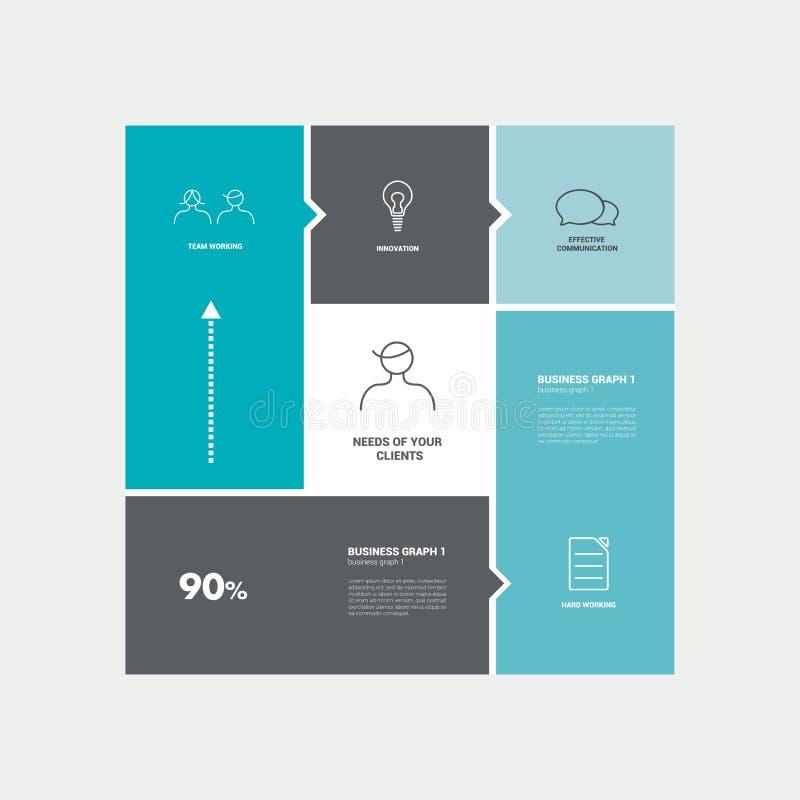 Numrerad mall Infographic vektor vektor illustrationer