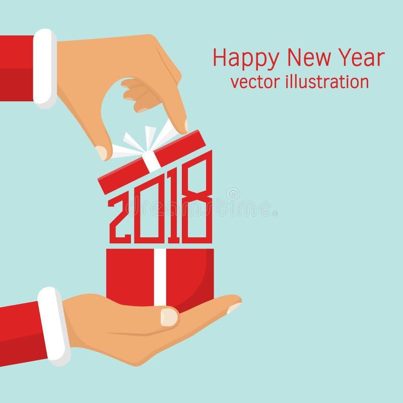 2018 Numrerar rött isolerad white för ask gåva vektor illustrationer