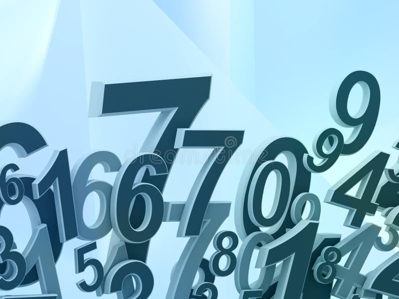 Numrerar sammansättning royaltyfri illustrationer