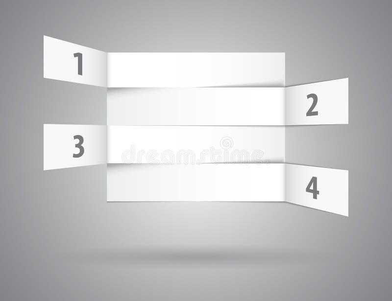 Numrerat vitabstrakt begrepp ror i perspektiv vektor illustrationer