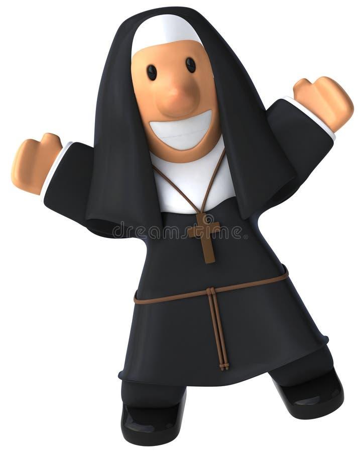 Download Nun stock illustration. Image of black, catholic, novice - 20454707