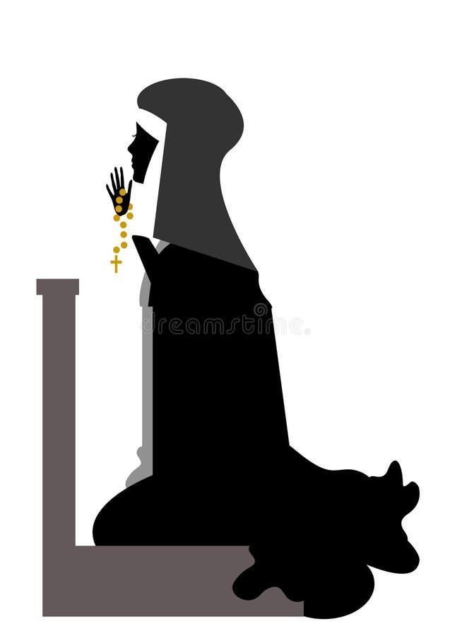 Download Nun stock illustration. Illustration of sisters, cloister - 21398181