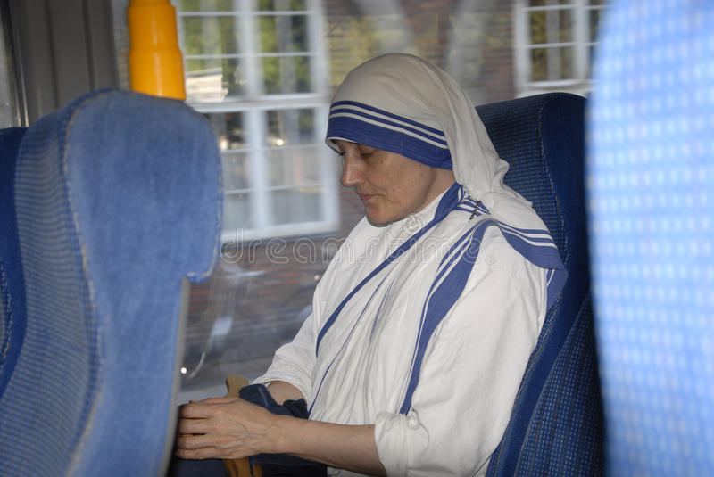 NUN FROM MOTHER TERESA MISSION stock image