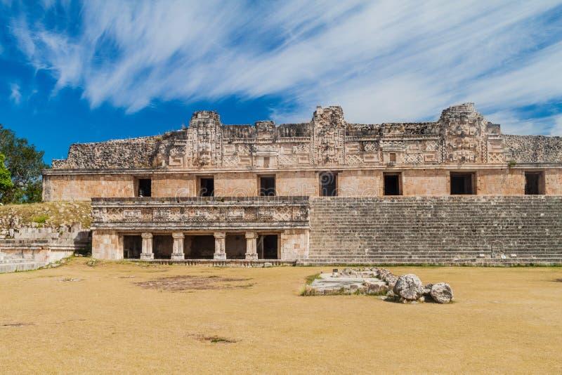 Nun`s Quadrangle Cuadrangulo de las Monjas building complex at the ruins of the ancient Mayan city Uxmal, Mexi. Co stock photos