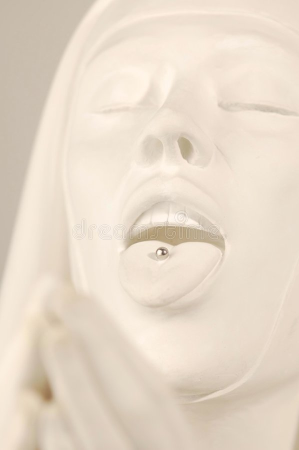 Download Nun Statue With Tongue Pierced Stock Photo - Image: 4024796