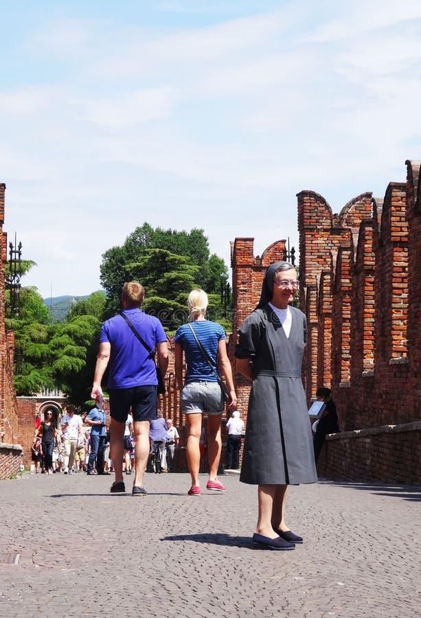 Nun - Verona royalty free stock images