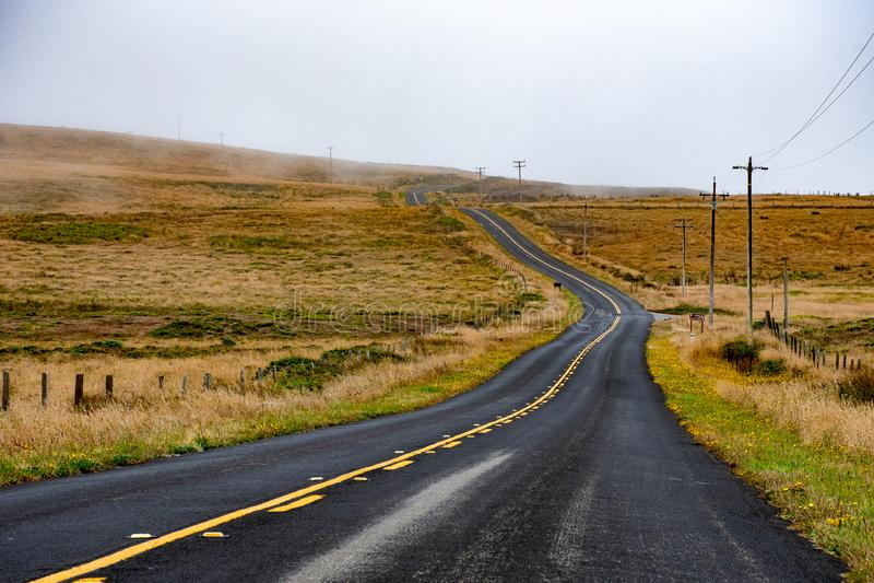 Nunca terminando a estrada aos patos encalhe, ponto Reyes, Califórnia fotos de stock royalty free
