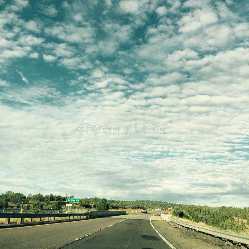 Nunca terminando a estrada a Cali fotografia de stock